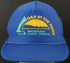 Day in the Park Michigan State Parks Blue Mesh Trucker Hat Cap Snapback Strap
