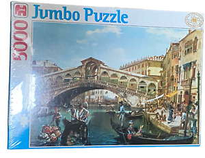 Jumbo 5000 Piece Jigsaw Puzzle Antonio Pascutti Rialto Bridge Venice Rare Sealed
