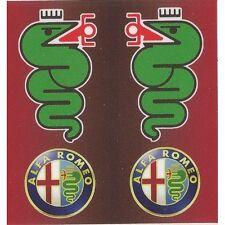 """Sticker """" ALFA ROMEO """" 68mm x 65mm BIC Lighter"""