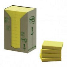 Post It Notas Adhesivas Torre Reciclado Pack - 38x51mm Pastel Yellow