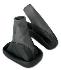 Schaltsack + Handbremsmanschette OPEL VECTRA B 100% ECHT LEDER schwarz grau