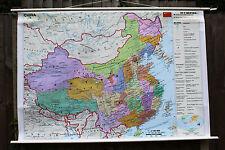 COLORATO Pull Down Roll Down Scuola Muro Mappa della Cina
