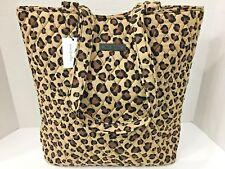 Vera Bradley TOTE small hand shoulder bag LEOPARD carryall purse NWT