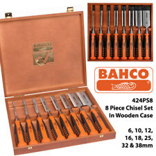 BAHCO 6 PEZZI 424P precisione legno Scalpello Set e Custodia, 6,10,12,18,25,32mm