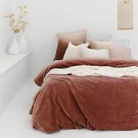 Bambury Emerson 100% Cotton Velvet Quilt Cover Set - Cayenne