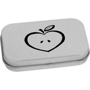 'Heart Apple' Metal Hinged Tin / Storage Box (TT025790)