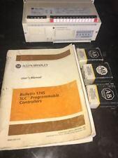 Allen Bradley SLC 500 Processor Unit 1745-LP101 Series D w/Manual& 3 Memory Mods