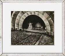 Photo: Interior, Rockettes, stage, Ochestra, pit, Radio City Music Hall, New Yor