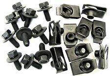 Body Bolts & U-nut Clips- M6-1.0 x 16mm Long- 10mm Hex- 20 pcs (10ea)- LD#379