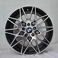 Set of 4 Wheels 18 inch STAGGERED Satin Black Rims fits BMW 3 SERIES SEDAN (F30)
