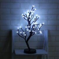 1X(48 Leds Kirschblüte Desktop Bonsai Baum Licht Weiß 0.52 M Schwarz Zweig Y7Q2