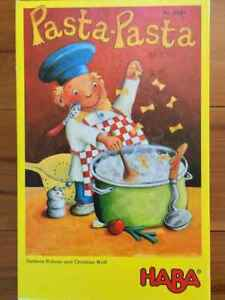 Pasta Pasta Who keeps the noodle in his hand? Very fun Children' game HABA 4387