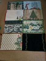 Lot Of 8 Assorted Cloth Holiday Placemats Christmas Used Various Mix