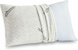 Comfort & Relax Shredded Bamboo Memory Foam Pillow With Free Cover, King Size,