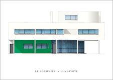 Le Corbusier villa savoye poster Art Imprimé Image 50x70cm
