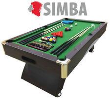 8 Ft Pool Table Billiard Playing Table Game Green LEONIDA Indoor Sports
