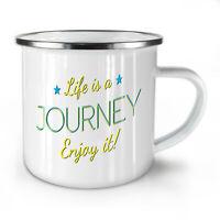 Life Journey NEW Enamel Tea Mug 10 oz | Wellcoda
