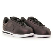 New Nike Cortez Basic Metallic Anthracite Black Leather Trainers Women Men UK 6