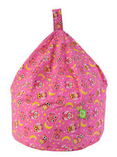 Child Size Pink Owls Bean Bag With Beans By BeanLazy