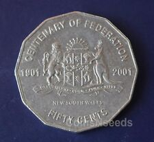50c 2001 New South Wales NSW Australian Centenary of Federation 50 Cent Coin