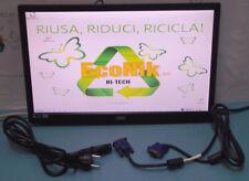 """Monitor LCD LED wide 18,5"""" AOC mod. E970Sw, ingresso VGA, risoluzione 1366x768."""
