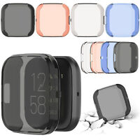 TPU Cover Guard Case Protective Skin Full Screen Shell For Fitbit Versa 2 Watch