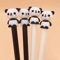 2X Cute Cartoon Panda Gel Pens Kawaii School Stationery 0.5mm Black Ink Gel Pens