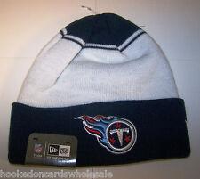 Tennessee Titans NFL Knit Stocking Skull Cap Hat - New Era - White