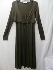 BROWN  LONG SLEEVE MOCK JACKET DRESS SIZE 10 BY THE WHITE COMPANY