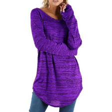 Womens Loose Tunic Long Tops Blouse Casual Mini Dress T Shirt Pullover Plus Size