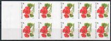 Belgium**PELARGONIUM-GERANIUM-FLOWERS-Booklet 10vals-Bloem-Fleurs-1999-MNH