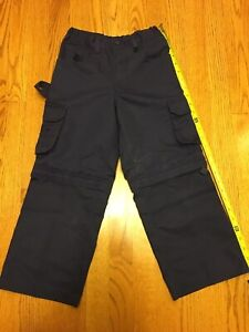 CUB SCOUT Tiger Wolf Bear UNIFORM PANTS Blue Switchback Youth 6 Zip off Shorts S
