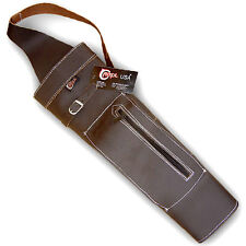 CAROL TRADITIONAL ARCHERY LEATHER VINTAGE STYLE BACK ARROW QUIVER AQ147F BROWN