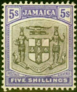 Jamaica 1905 5s Grey & Violet SG45 Fine Lightly Mtd Mint