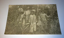Antique RPPC Honduras Children W/ Fruit & Swords! Child Kids Labor! Hats! Photo!