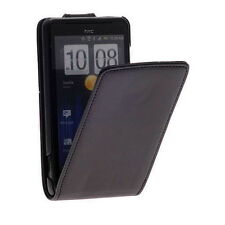 Premium Black Slim Flip Leather Case Cover for HTC Velocity 4G / G19 + Screen G