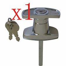T Handle T Lock Front Fixing Door Lock Caravan Garage Shed Campervan