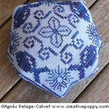 Agnes Delage-Calvet Designs X-stitch Chart - Nautical Biscornu