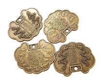 4492FD Coin Charm Drop Antiqued Brass Cloud 30x23mm Chinese Zodiac 10 Qty