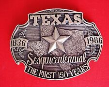Texas The First 150 Years Belt Buckle