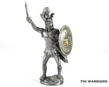 Spartan King Tin toy soldier. Collection 54mm miniature figurine metal sculpture