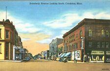 Crookston,MN. Broadway Avenue Corner Drug Store and Western Union