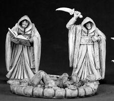Townsfolk Cultists Reaper Miniature Dark Heaven Legends D&D Dungeon Wargames RPG