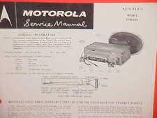 1960 CHEVROLET IMPALA CONVERTIBLE EL CAMINO MOTOROLA AM RADIO SERVICE MANUAL M