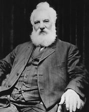 Inventor ALEXANDER GRAHAM BELL Glossy 8x10 Photo Portrait Print Poster