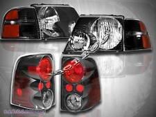 2002-2005 Ford Explorer Headlights 4DR BLACK+ Corner LIGHTS  ALTEZZA TAIL LIGHTS