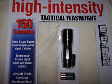 Brand New 150 Lumen Tactical Flashlight .Comes with Duracell Batteries