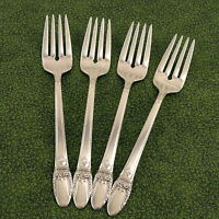 4 Salad Dessert Forks 1847 Rogers Bros First Love Vintage 1937 Silverplate