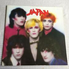Tour Programme Japan David Sylvian Japan 1980 tour