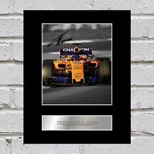 Fernando Alonso Signed Mounted Photo Display McLaren Honda #1